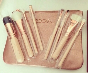 Brushes, make up, and cosmetics image