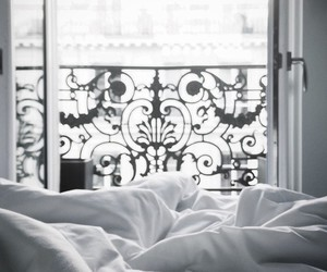 beautiful, bed, and black and white image