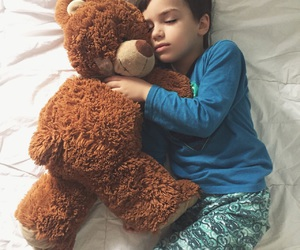 child, kids, and teddy image