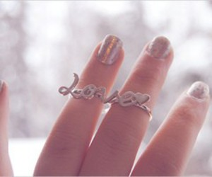 love, ring, and nails image