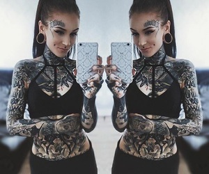 piercing, tattoo, and monami frost image