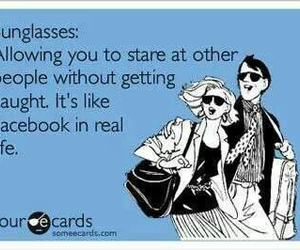 funny, sunglasses, and facebook image