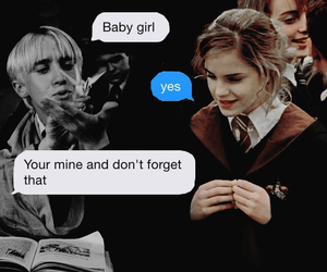 hp, dramione, and cute image