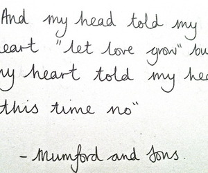 quote, love, and mumford and sons image