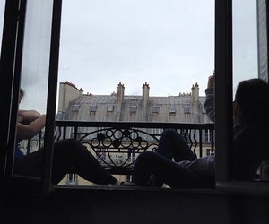 balcon, sky, and windows image