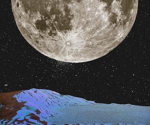 art, cosmic, and lunar image