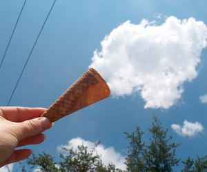 clouds, aesthetic, and ice cream image