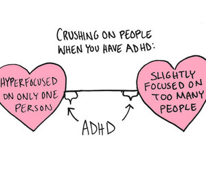 romance, interests, and adhd image