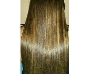 brown, hair, and meches image