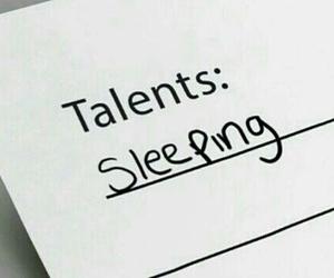 talent, sleeping, and sleep image
