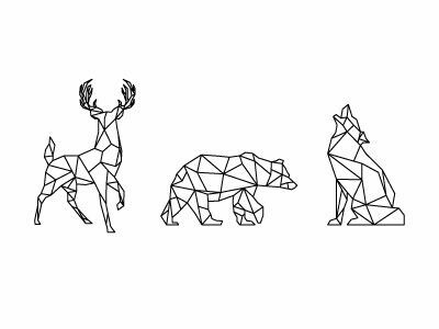 Geometric Animals Shared By Fanni On We Heart It