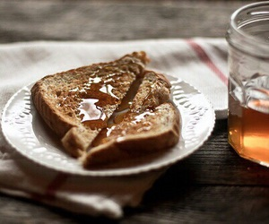 honey, breakfast, and bread image