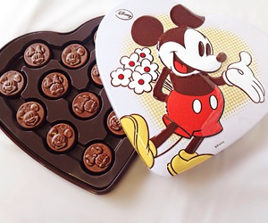 chocolate, mickey, and mouse image