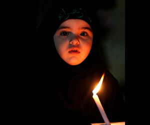 candle, iraq, and little girl image