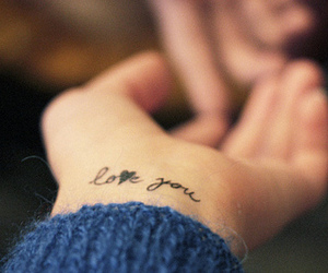 love, tattoo, and love you image