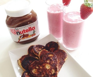 nutella, breakfast, and food image