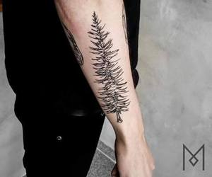 man, forest, and tattoo image