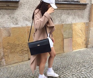 coat, nylon, and outfit image