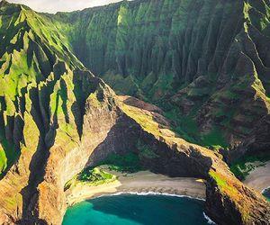 beach and hawaii image