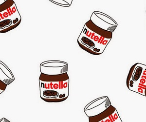 nutella, chocolate, and wallpaper image