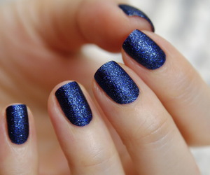 blue, glitter, and lapis image