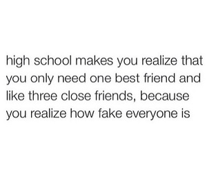 high school, life, and quote image