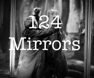 horror, movie, and mirrors image