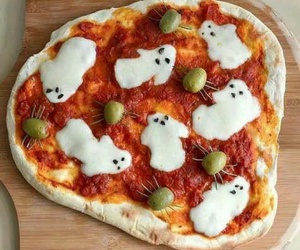pizza, Halloween, and food image
