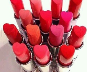 lipstick, red, and pink image