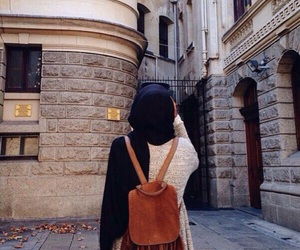 girl, hijab, and fashion image