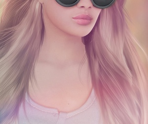 3d, background, and beautiful girl image