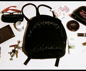 backpack, bag, and cosmetics image