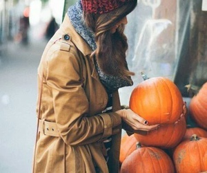 pumpkin, fall, and girl image