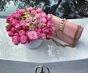 bag, body, and flowers image
