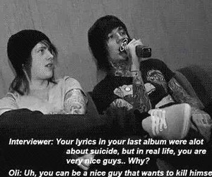 bring me the horizon, bmth, and suicide image