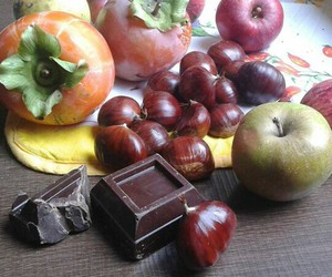 chocolate, fall, and fruit image