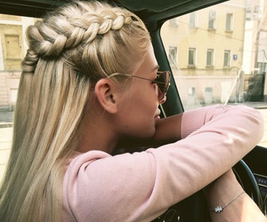 beauty, blonde, and car image