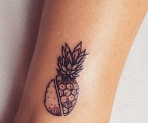 tattoo, pineapple, and fruit image