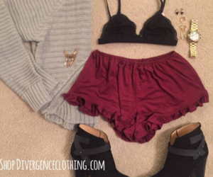 autumn, style, and burgandy image