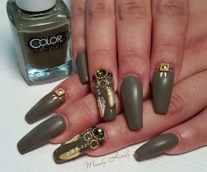 green, matte, and nails image