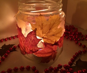 autumn, candles, and diy image