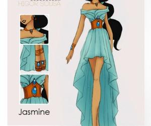 jasmine, disney, and princess image