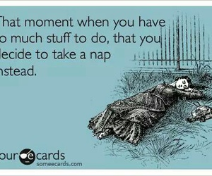 nap, ecards, and quote image