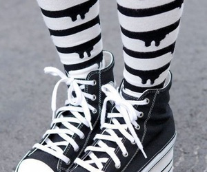 shoes, pastel goth, and black image