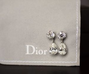 dior, earrings, and diamond image