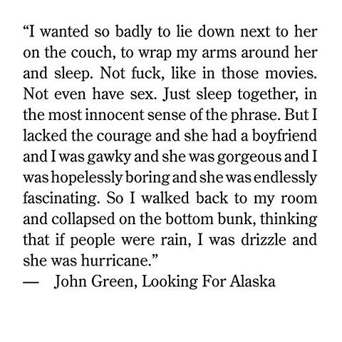 book, john green, looking for alaska, quote, text ...