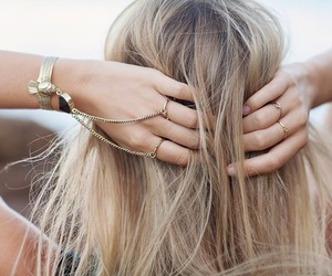 blonde and rings image