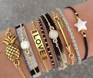 bracelet, gold, and accessories image