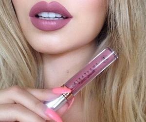 makeup, lips, and lipstick image
