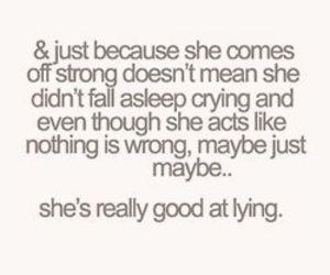 lying and crying image